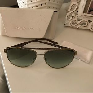 Michael Kors green lens aviator sunglasses